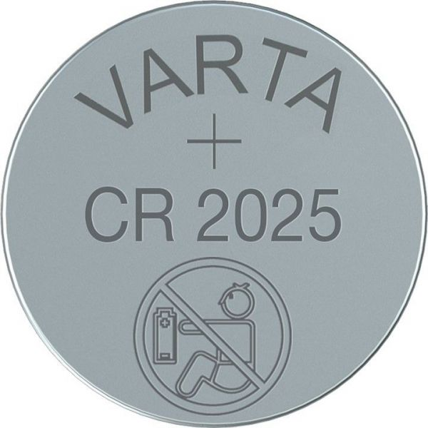 Knopfzelle Lithium, CR-2025 Varta